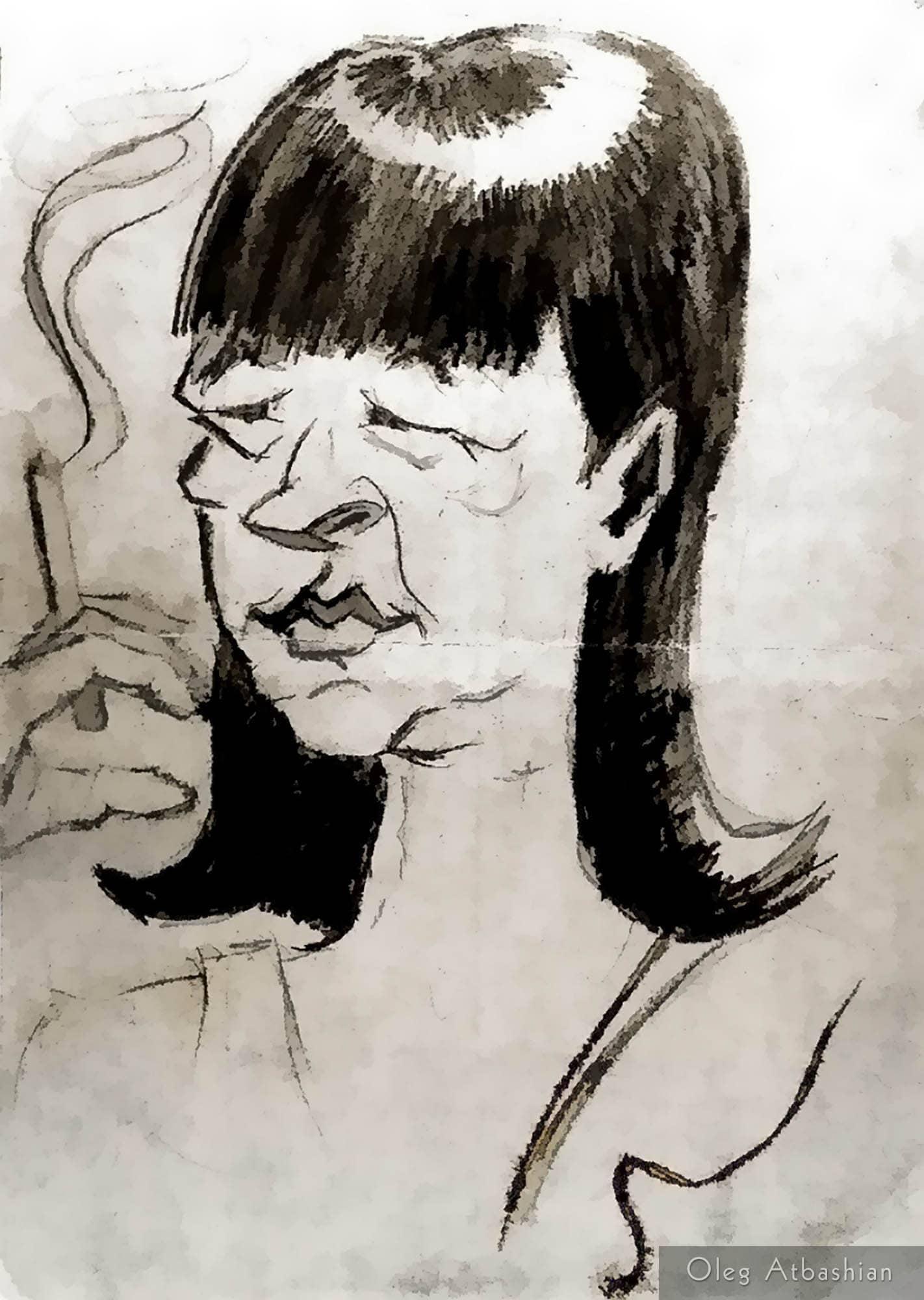 Cartoon Surgut Old Whore