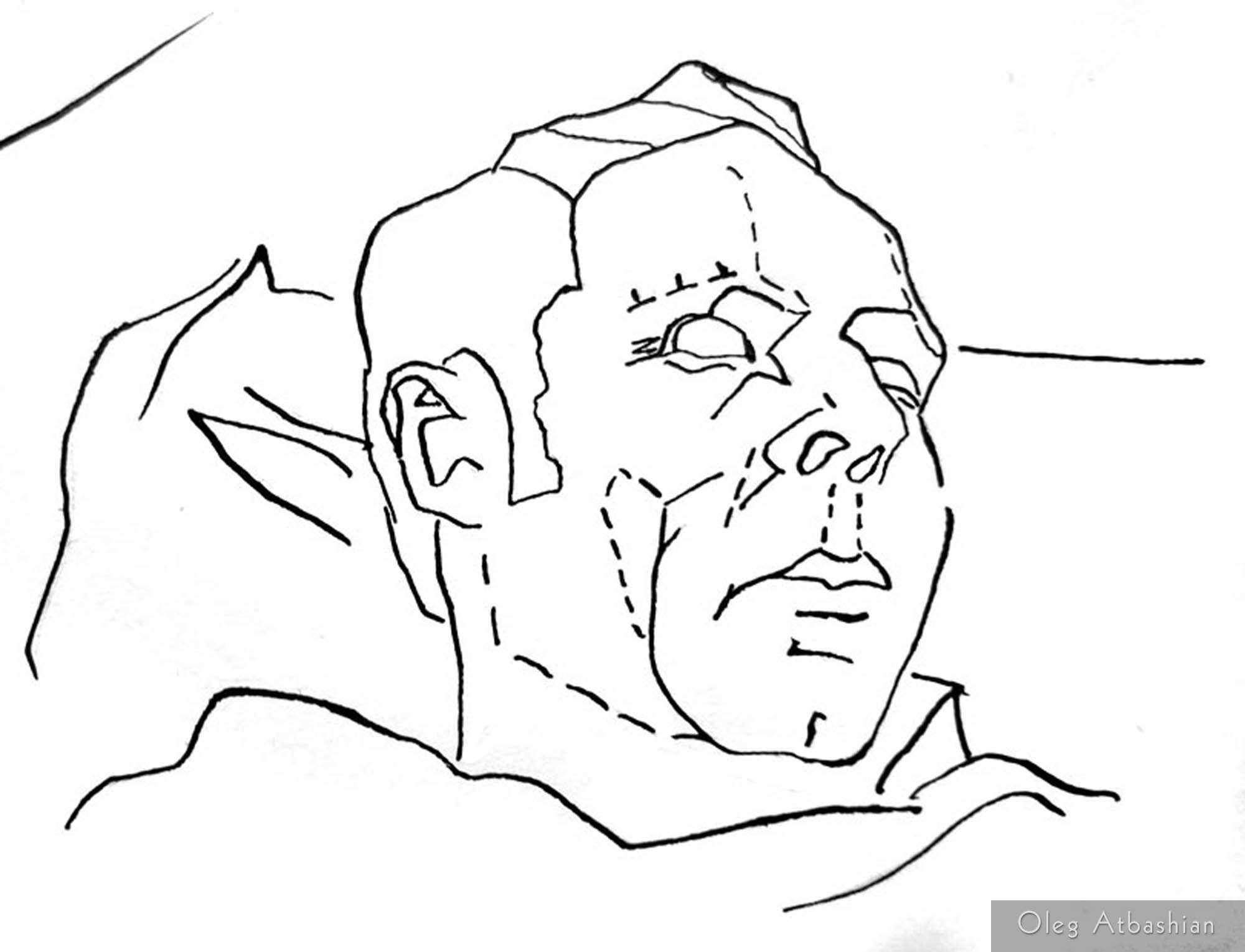 Drawing Under the Influence: Sleeping Man