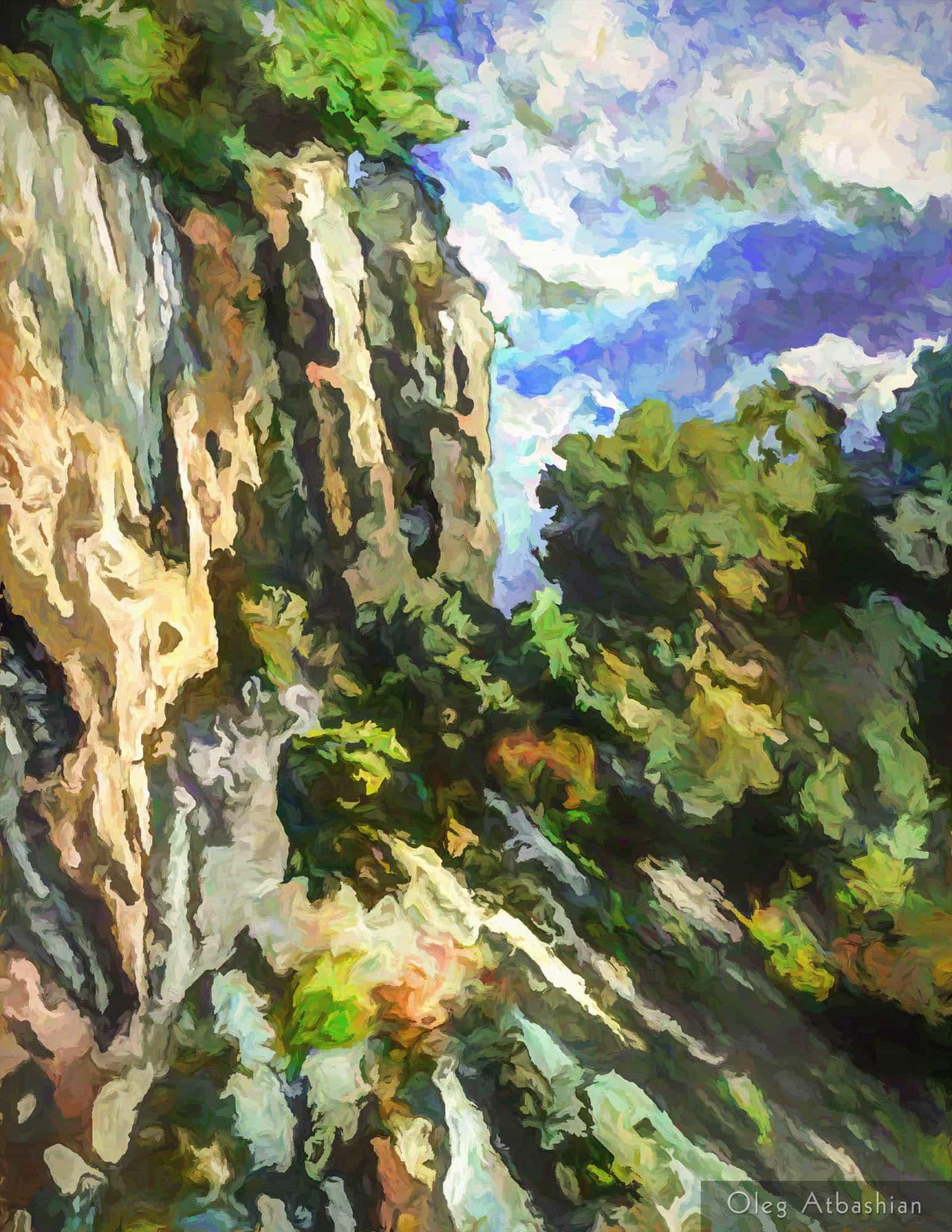 Landscape Caucasus Cliff Black Sea