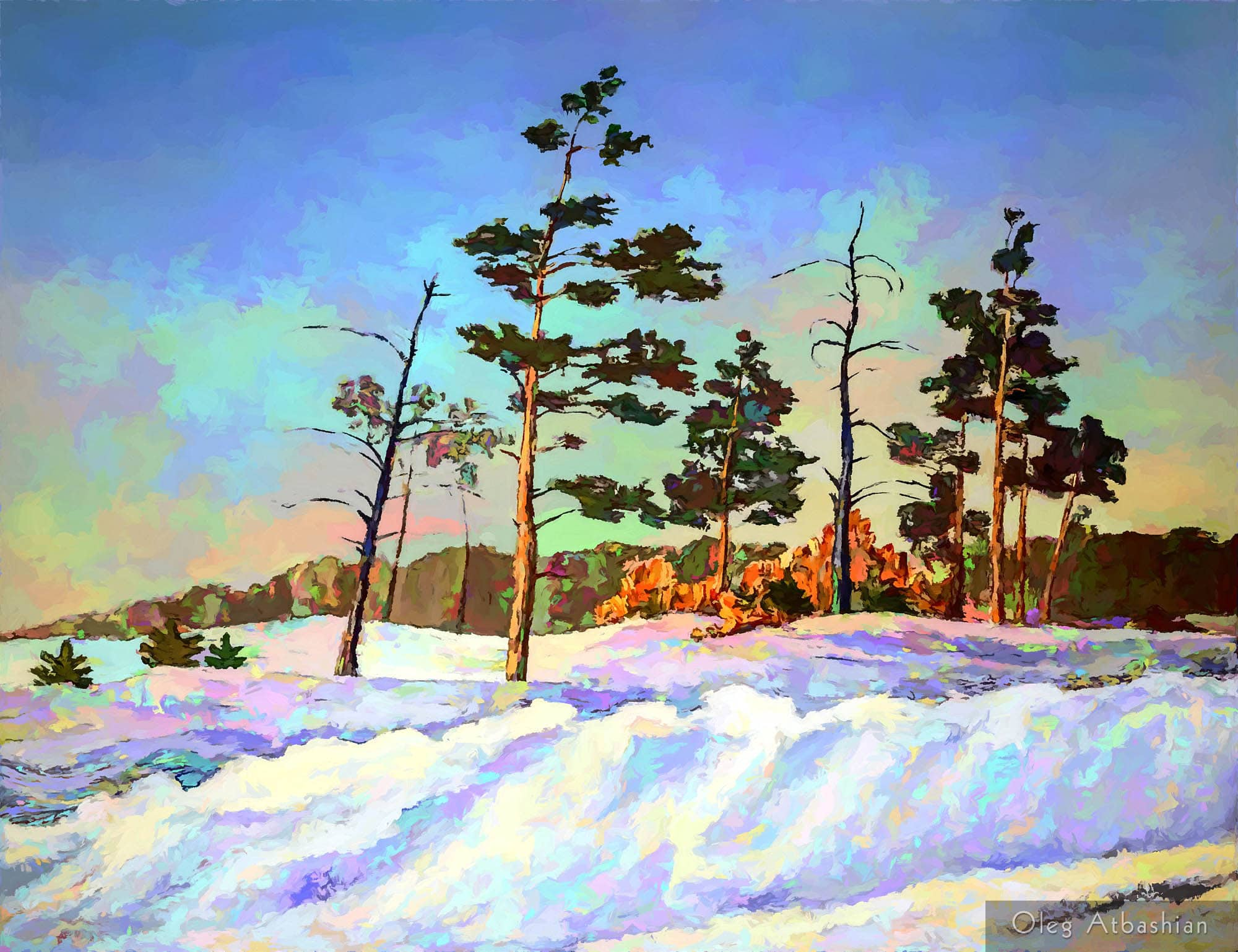 Snowy Road in Siberia
