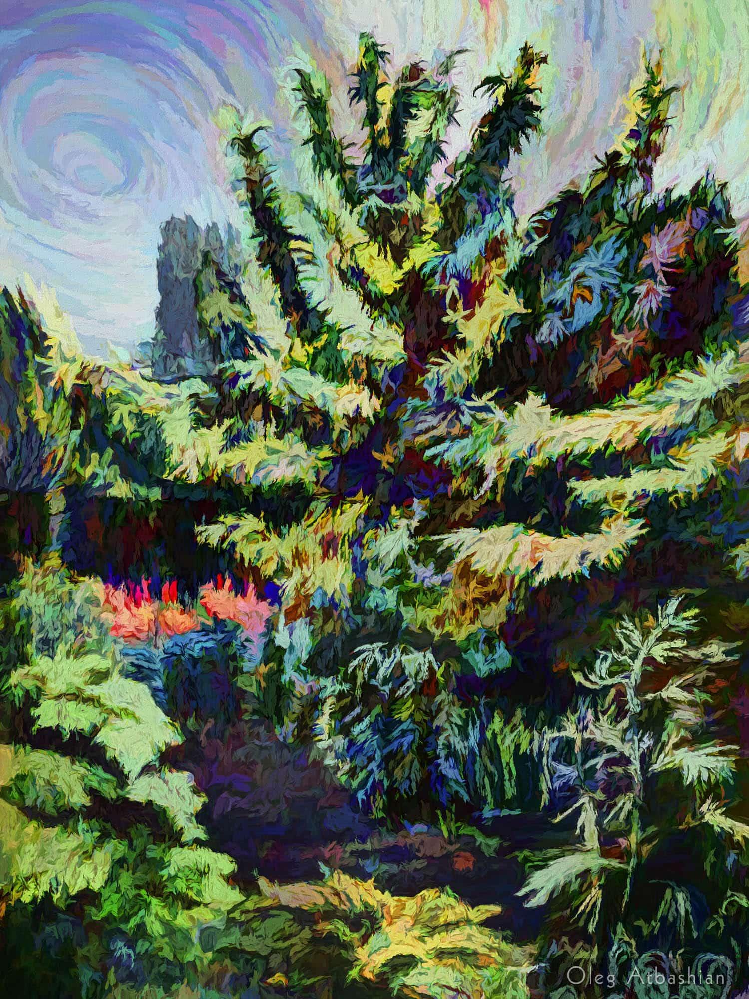 Landscape Ukraine Van Gough Dacha