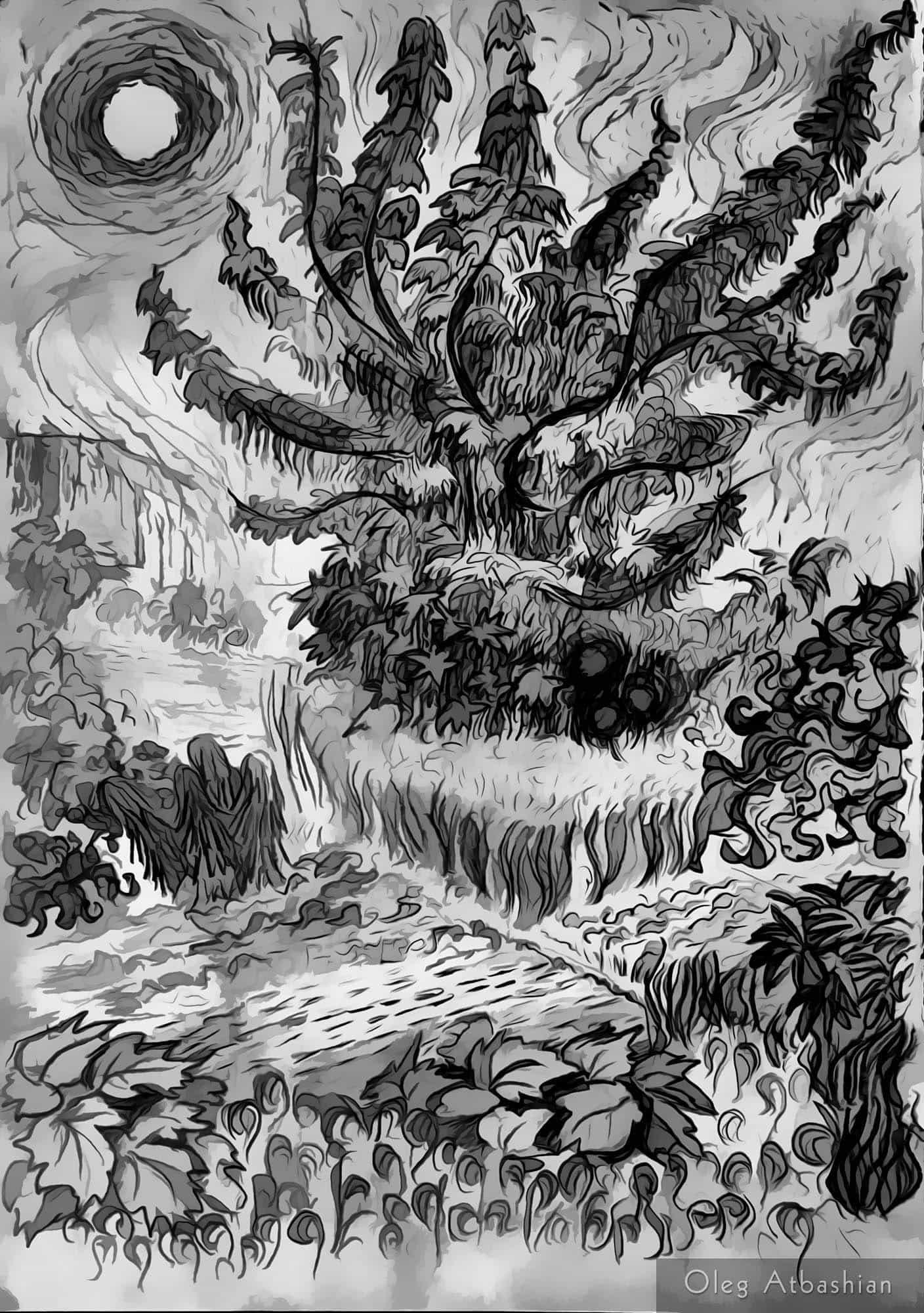 Summer Heat: Van Gogh Style Drawing