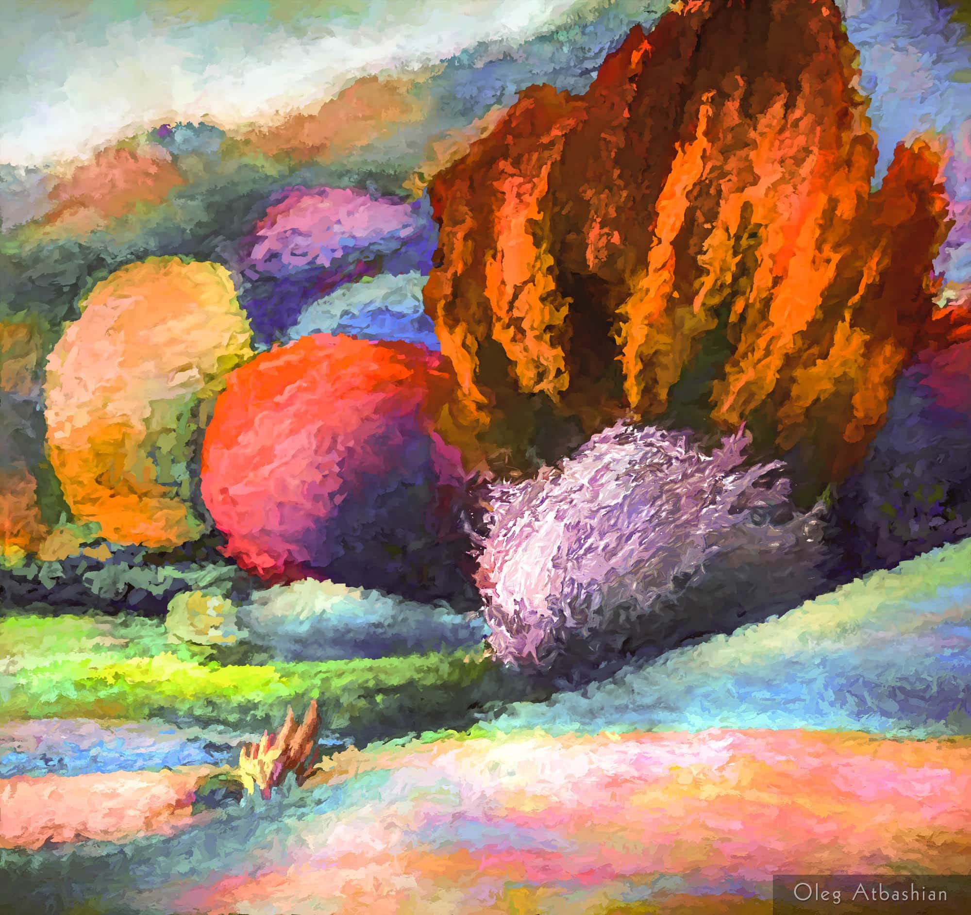 Landscape Ukraine Yaroshivka Bushes