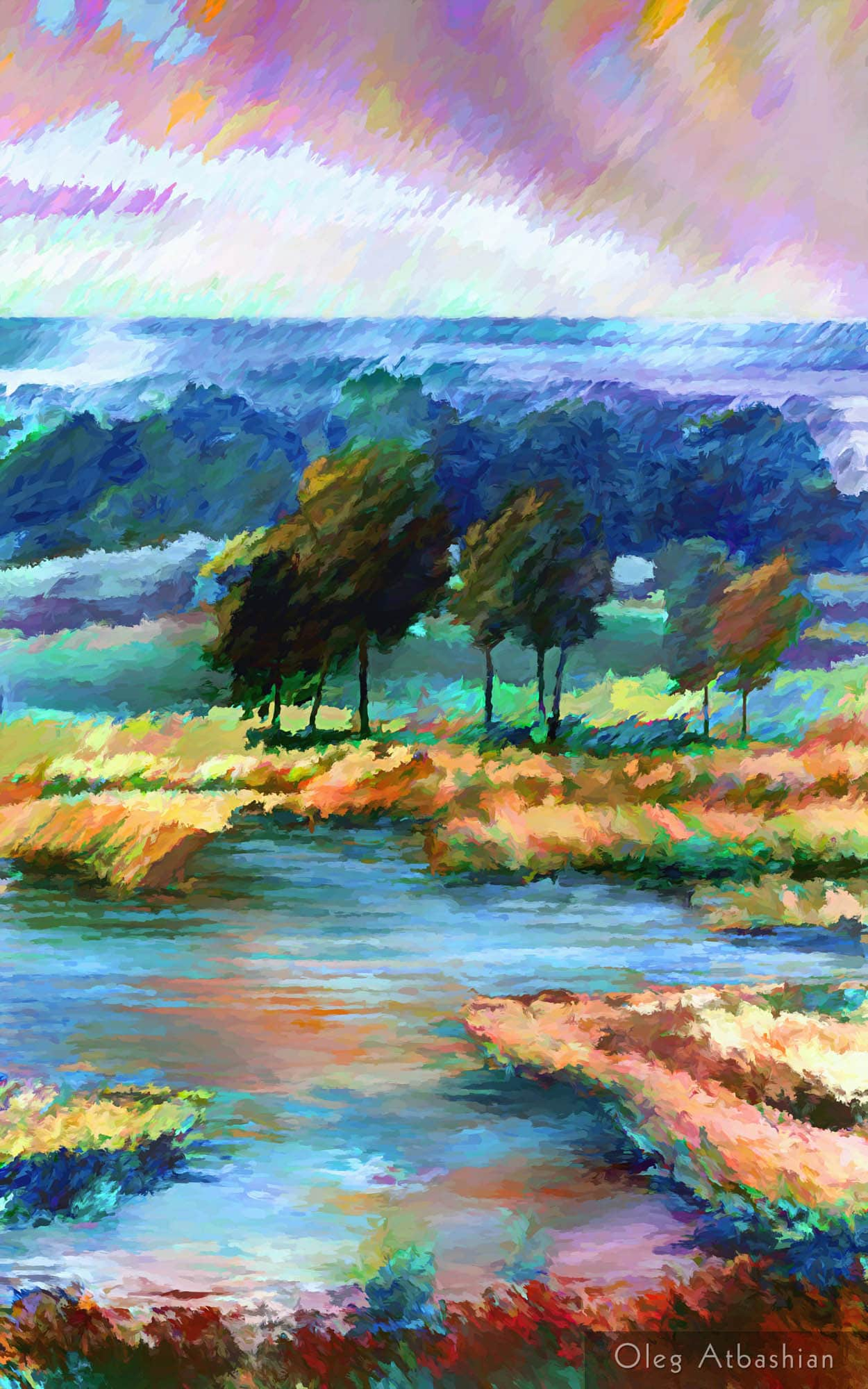 Landscape Ukraine Yaroshivka Swamp Rain Sun
