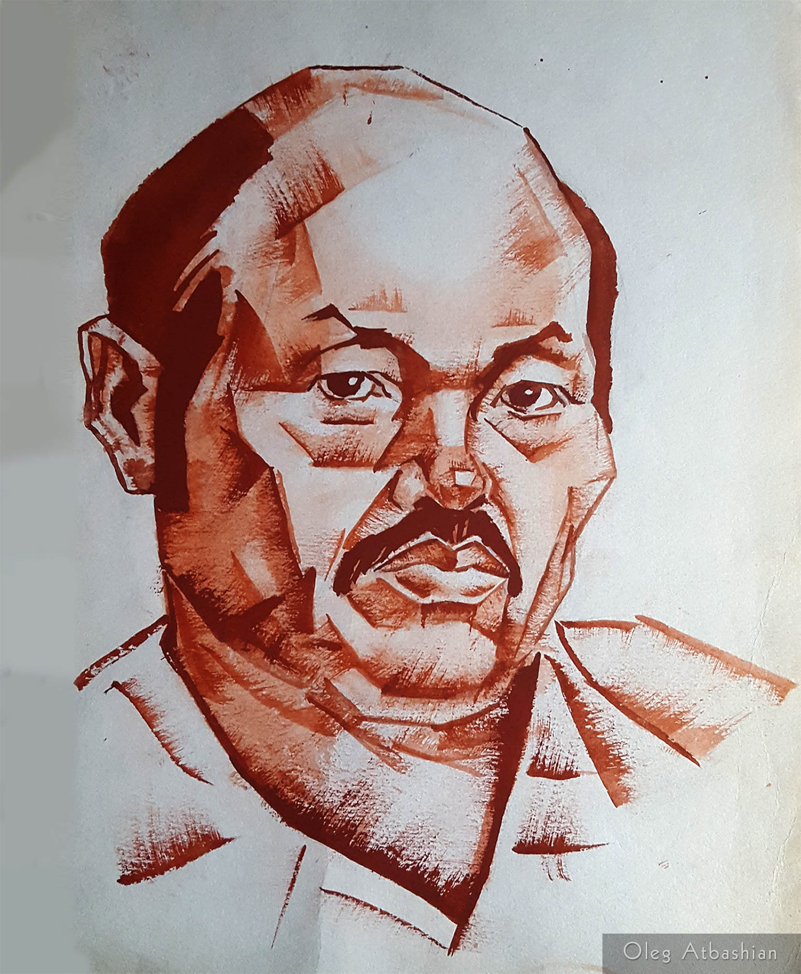Bashkir Man in Brown Ink