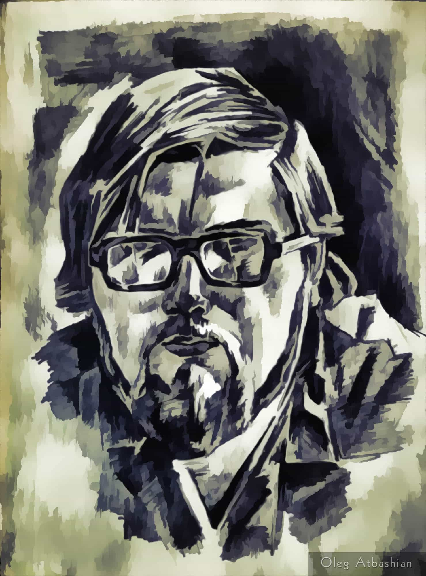 Man with Cracked Glasses