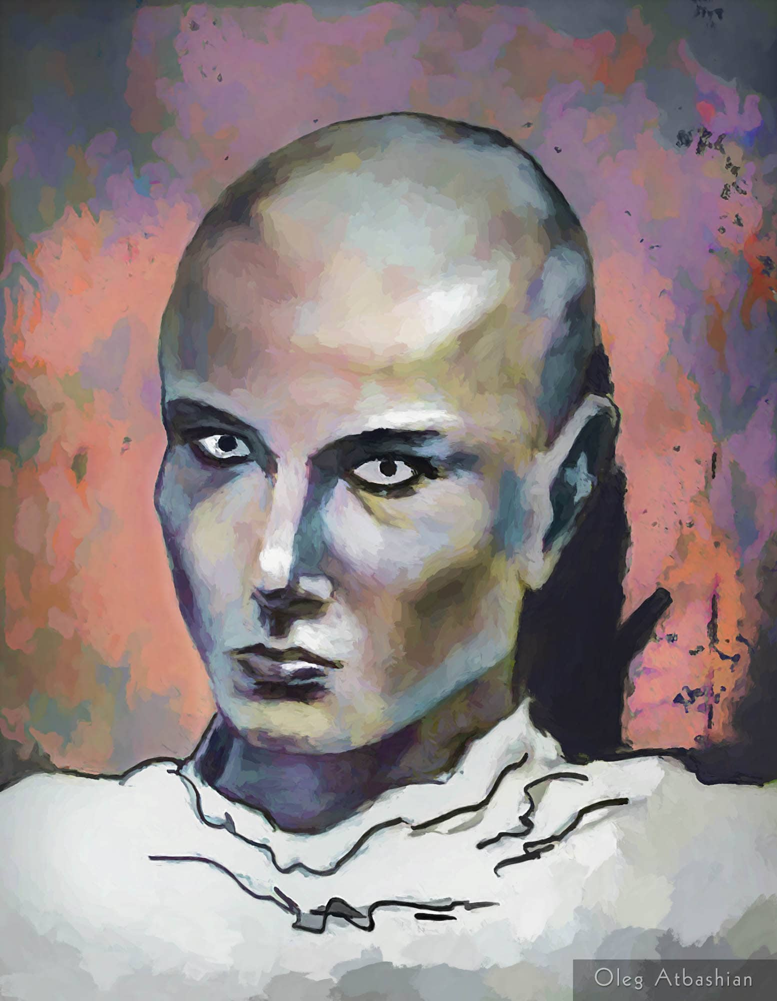 Girl with Shaved Head