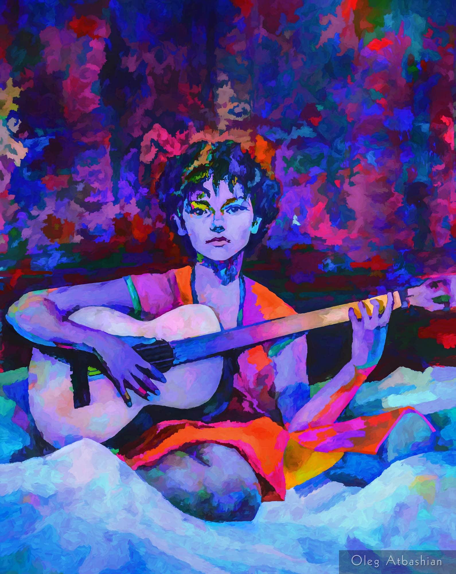 Katia as Gypsy Guitar Player