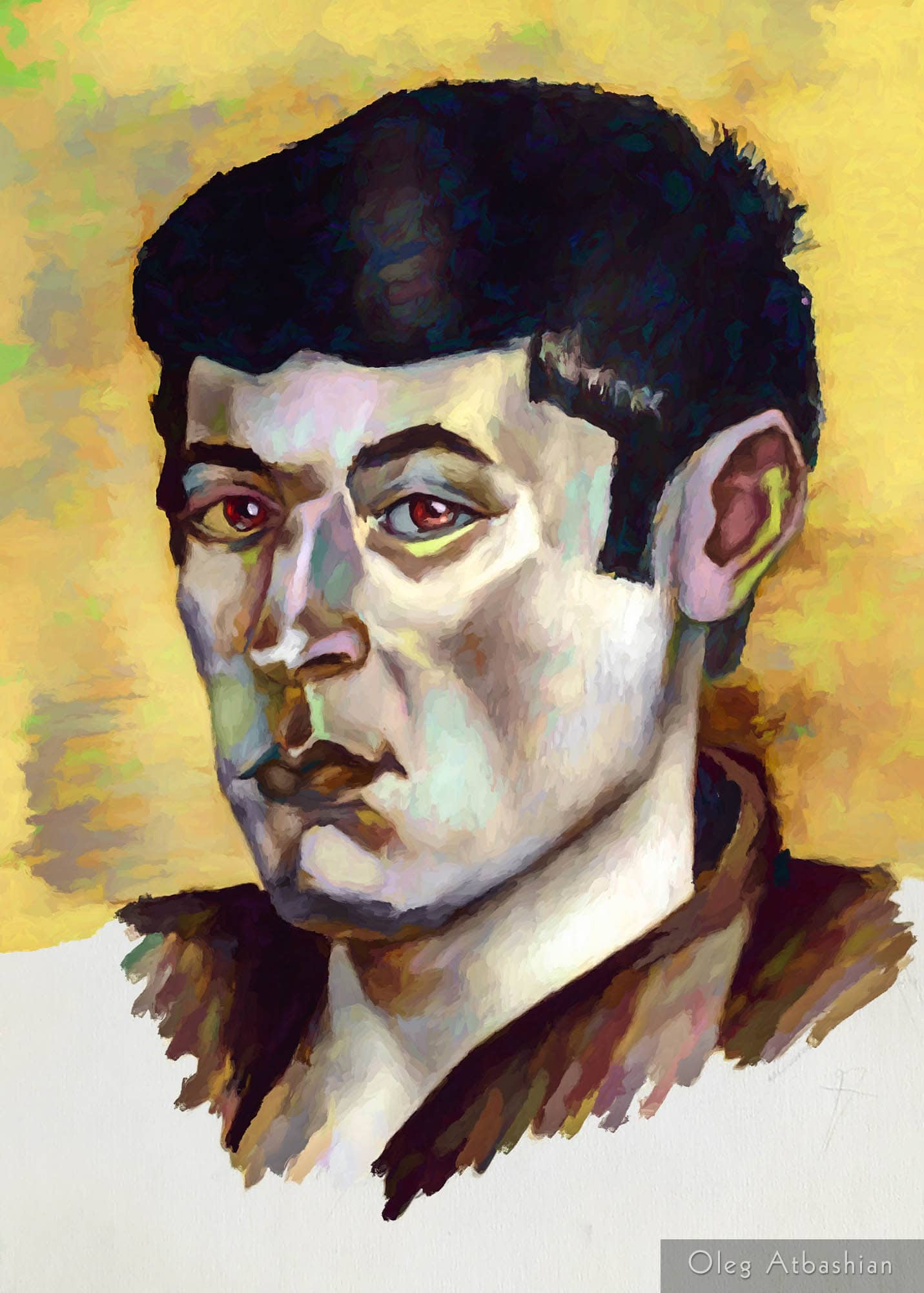 Lezgin Young Man from the Caucasus