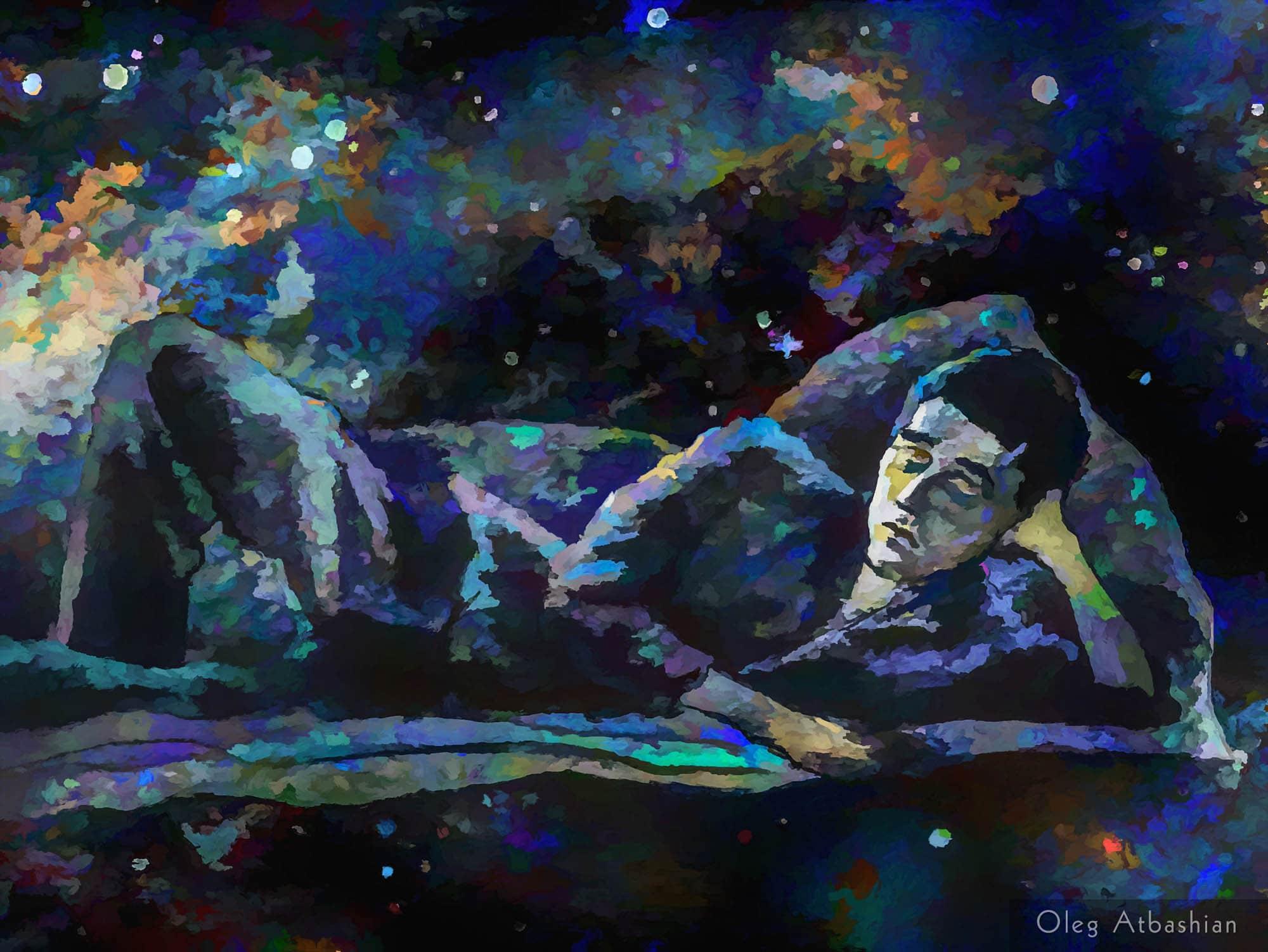 Osetin Man Flying in Sleep