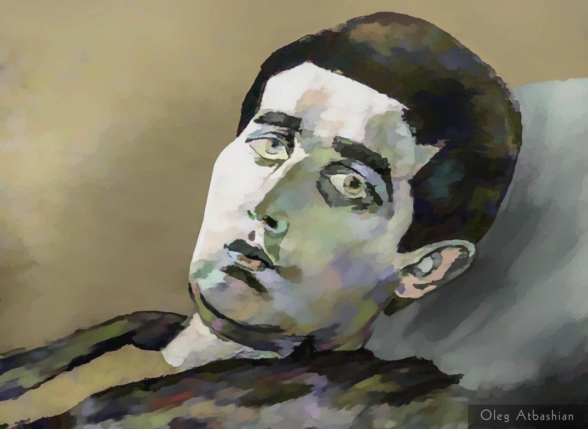 Osetin Man Daydreaming