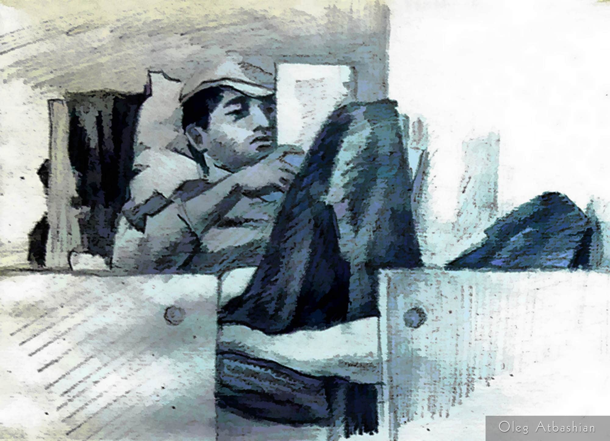 Osetin Man Reading