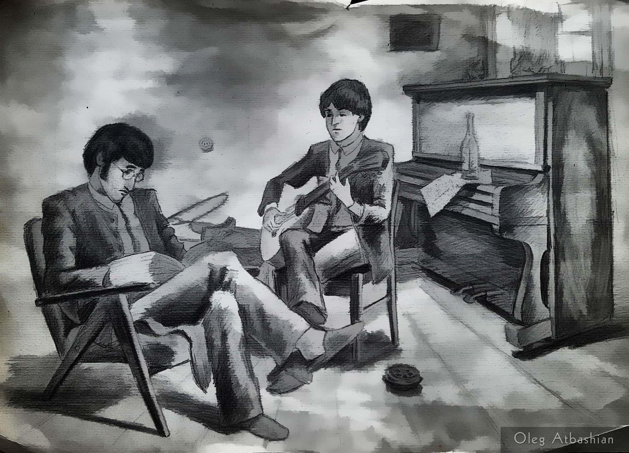 Paul and John Visiting Oleg's Home