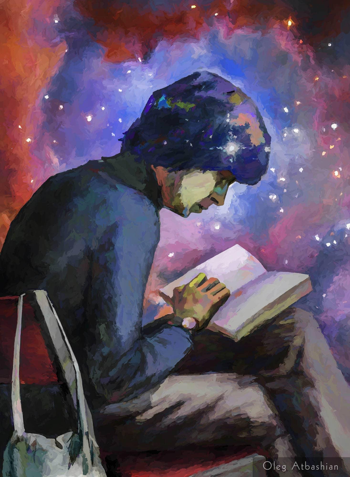 Zubov Reading a Sci Fi Novel