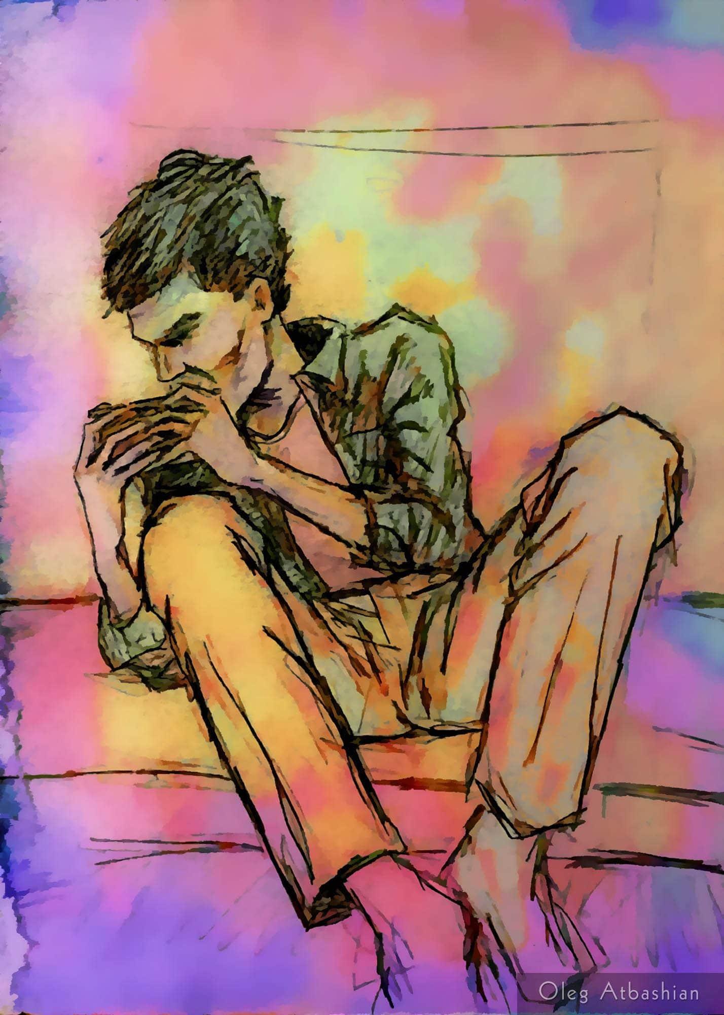 Sketch - Valera the Harmonica Player