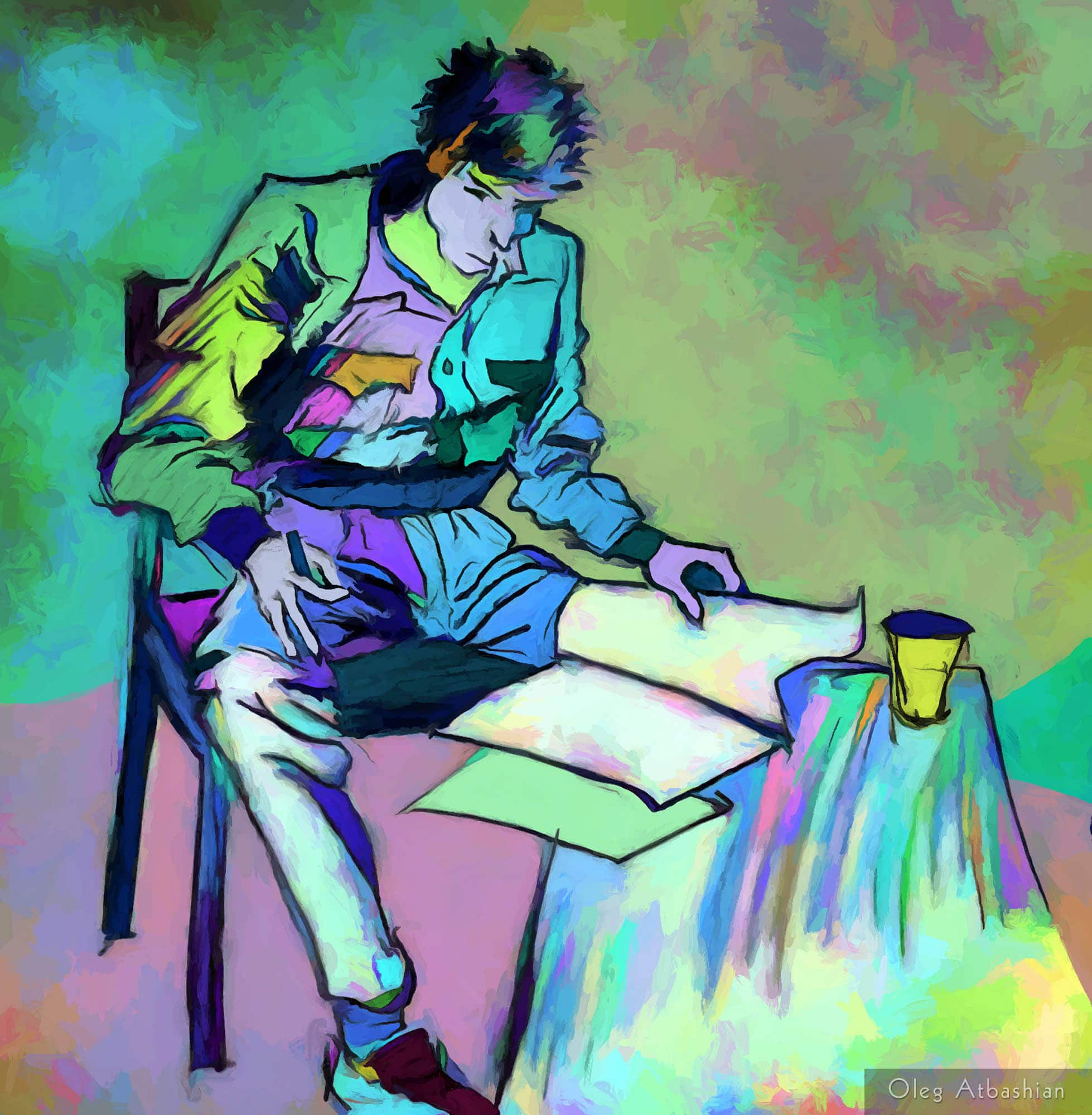 Sketch - Valera Reads A Magazine