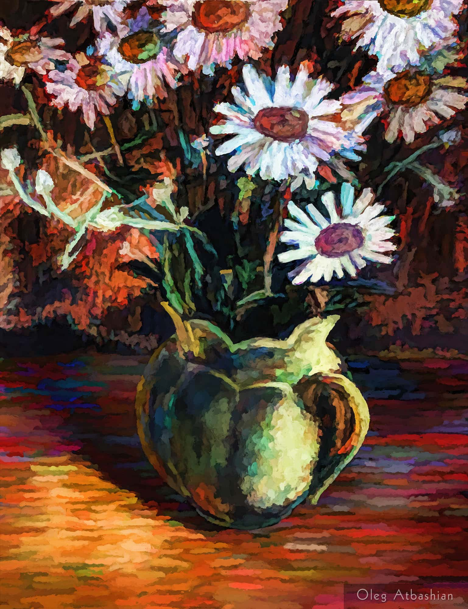 Still Life: Daisies in a Yellow Jug
