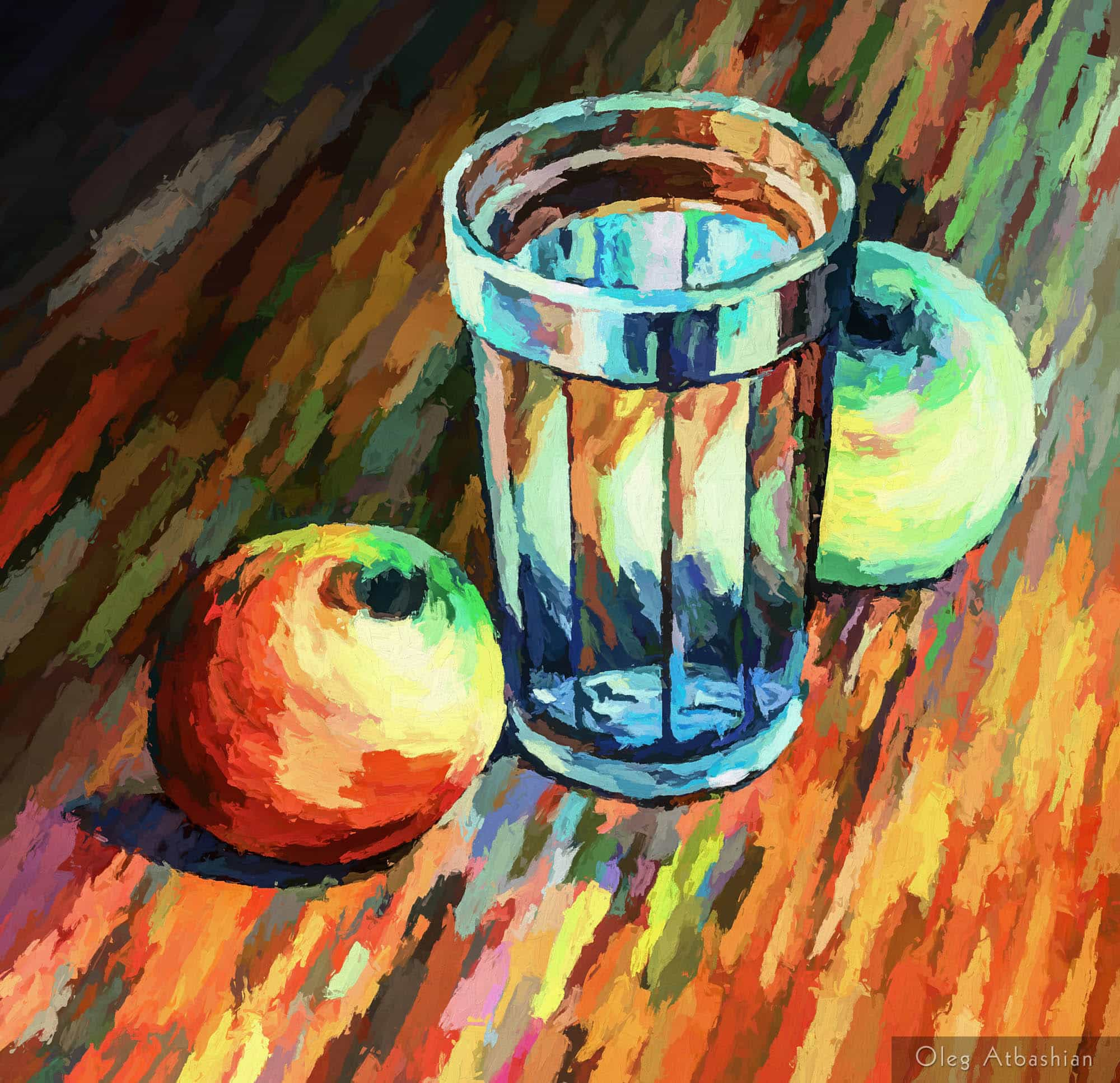 Still Life: Apple in a Glass of Water