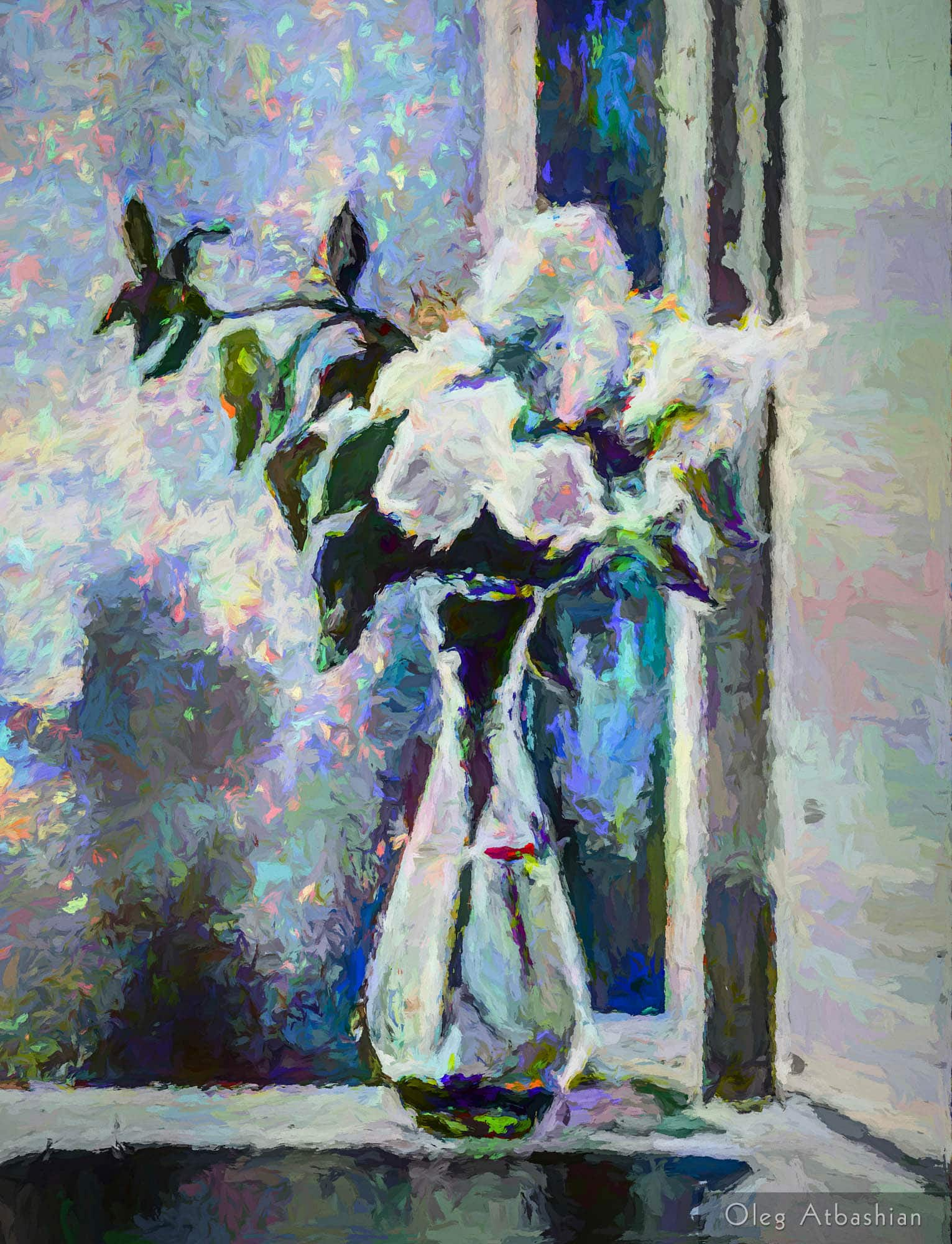 Still Life: Lilacs In Starlight