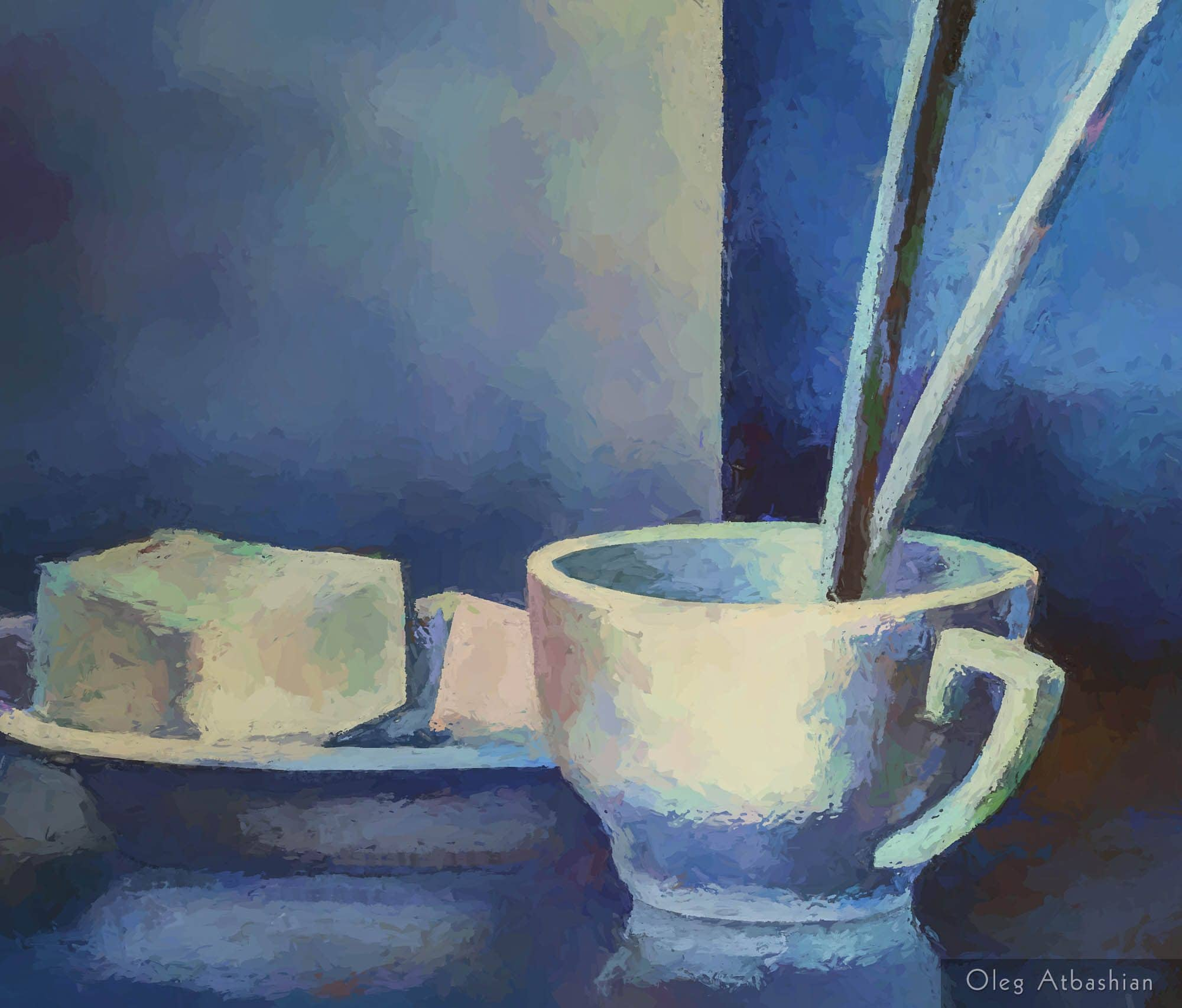Still Life Morning Tea Cup Artist Breakfast