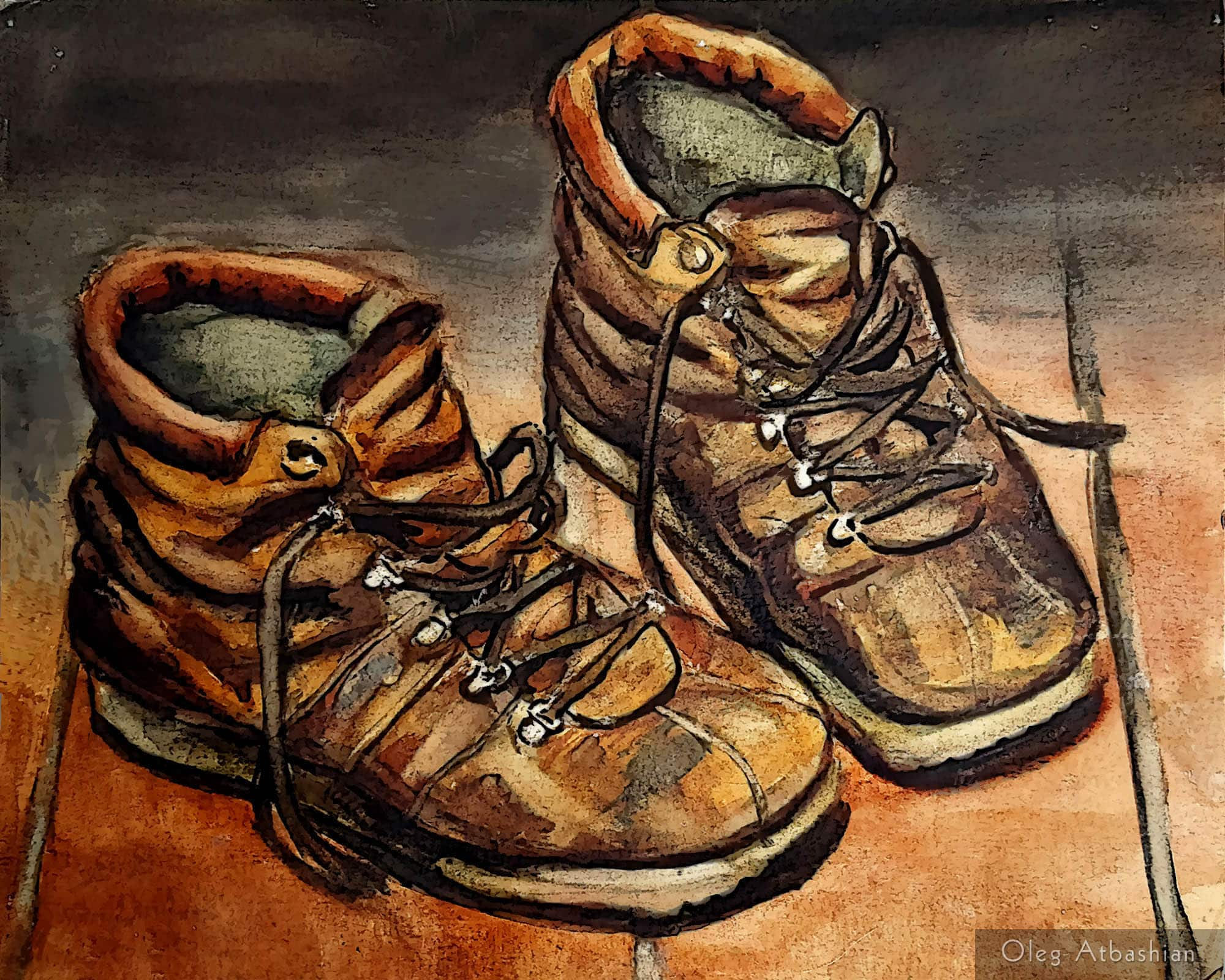 Still Life With My Old Shoes