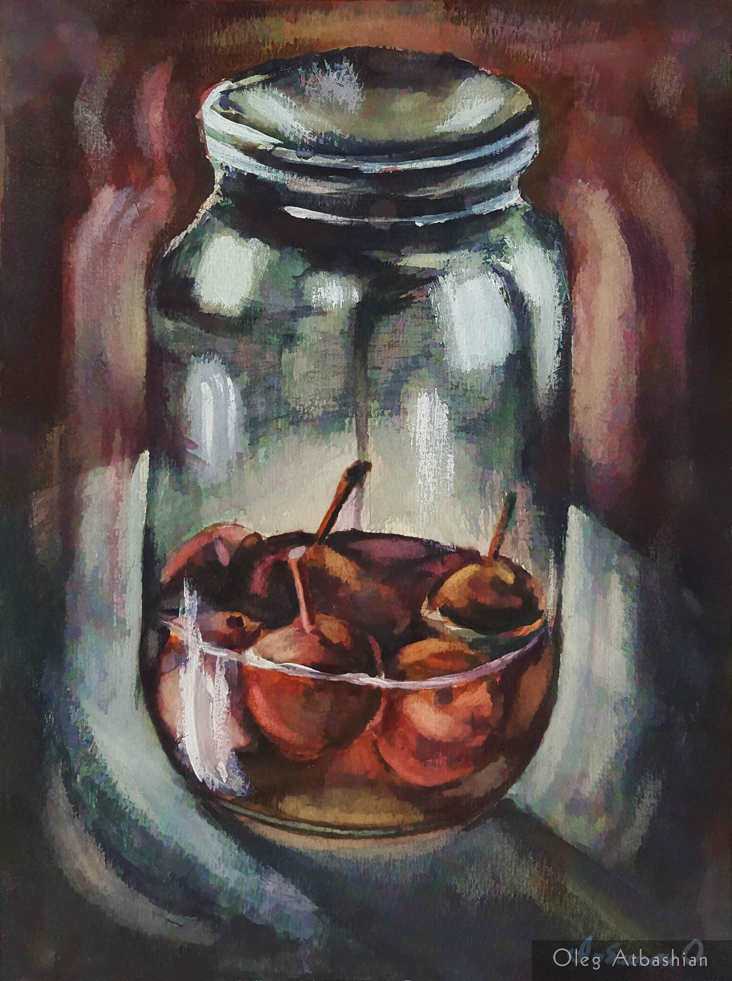 Still life: Paradise Apples, Contained