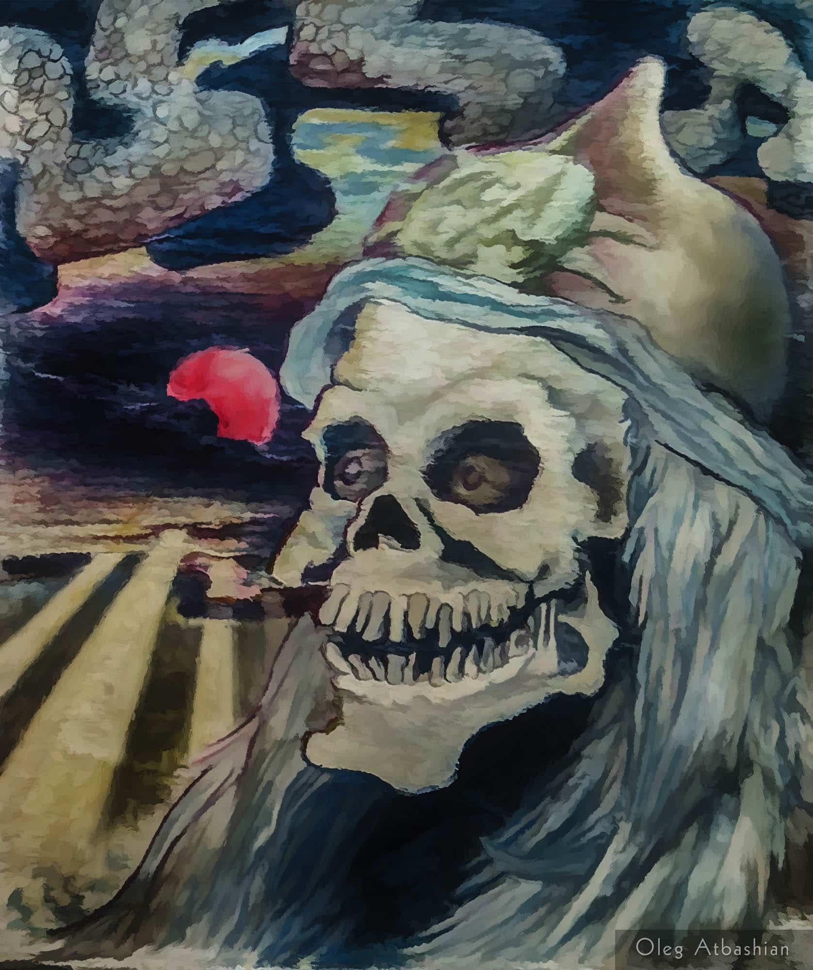 Teenage Surreal Skull